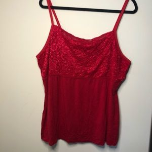 Lane Bryant Red Lace Camisole Tank top